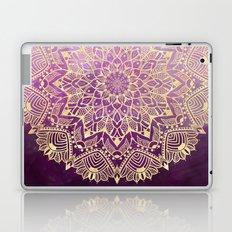 Gold mandala on maroon ink Laptop & iPad Skin