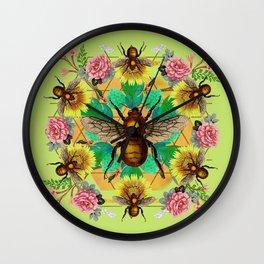 Bee Mandala Wall Clock