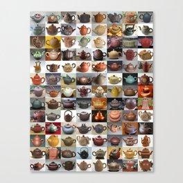 Yixing Teapot Montage Canvas Print