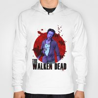 christopher walken Hoodies featuring The Walken Dead – The Walking Dead Parody – Christopher Walken Zombie by ptelling