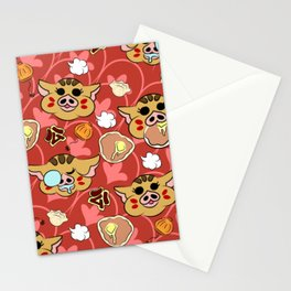 Year of the Boar Pattern Stationery Cards
