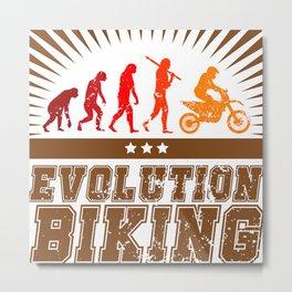 Evolution Biking - Motocross Metal Print
