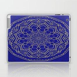Mandala - blue and gold 1 Laptop & iPad Skin