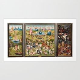 Tríptico del jardín de las delicias - El Bosco Art Print