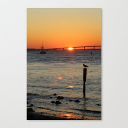 Boating Sunset-Potrait Canvas Print
