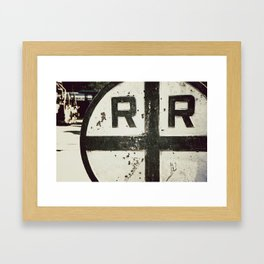 Train Crossing Framed Art Print