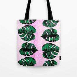 plants on pink Tote Bag