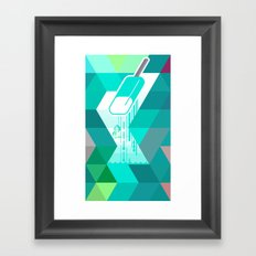 Blue Raspberry Popsicle Framed Art Print