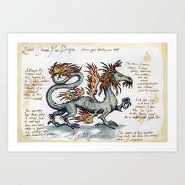 Lesser Chinese Fire Dragon Art Print
