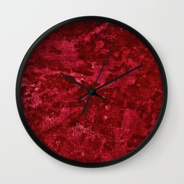 Color Fields: Crimson Sky Wall Clock