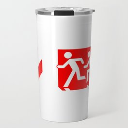 Wheelchair Disabled Exit Sign, with Accessible Means of Egress Icon Travel Mug