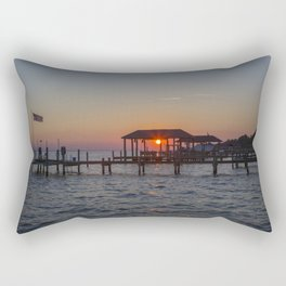 Sunset on the James River Rectangular Pillow