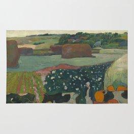 Paul Gauguin - Haystacks in Brittany Rug