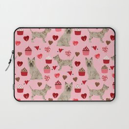 Cairn Terrier dog breed valentines day love pet dog person valentine by pet friendly Laptop Sleeve