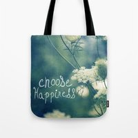 happiness Tote Bags featuring Happiness by Sandra Arduini