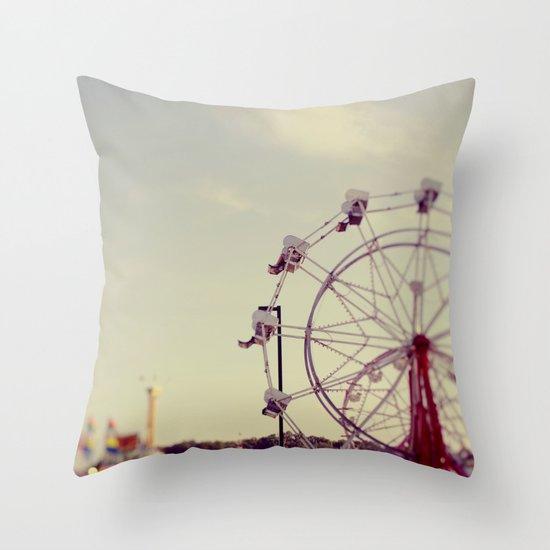 Cotton Candy Daydreams Throw Pillow