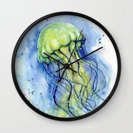 Jellyfish Watercolor Beautiful Sea Creatures Wall Clock