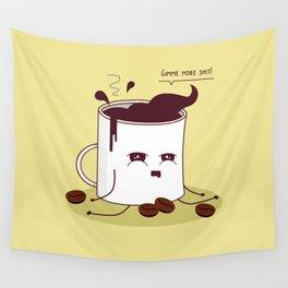 Coffee Mug Addicted To Coffee Wall Tapestry