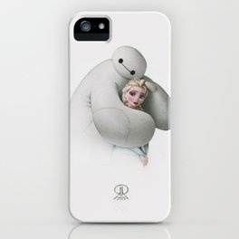 Sweet Hug - Baymax and Elsa iPhone Case