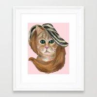 lana del rey Framed Art Prints featuring Felina Del Rey by Cattic Fanatic