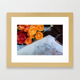 flower photography by Fabio Issao Framed Art Print