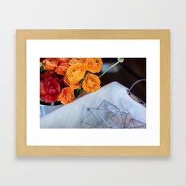 flower photography by Fabio Issao Framed Art Print