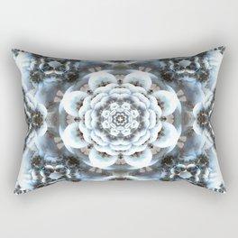 Snow Serenity Mandala Rectangular Pillow