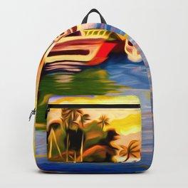 Lahaina Harbor Sunset Backpack