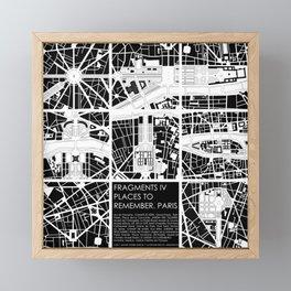 Fragments IV Paris Framed Mini Art Print