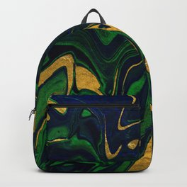 Rhapsody in Blue and Green and Gold Backpack