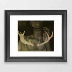 Self Portrait with Antlers Framed Art Print