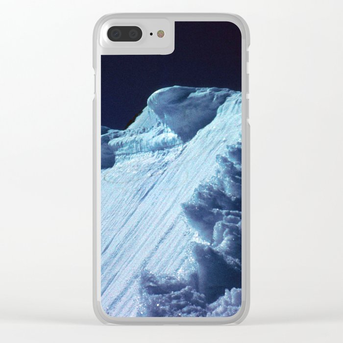 NATURE'S WONDER #2 - Glacier in the dark #art #society6 Clear iPhone Case