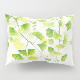 Ginkgo Watercolor  Pillow Sham