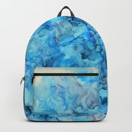 Polar- Alcohol Ink Painting Backpack