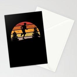 Retro Sunset Running Marathon Runner Gift Stationery Cards