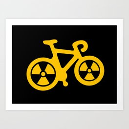 Radioactive Bicycle Art Print