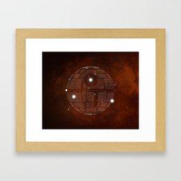 Constellation Death Star Framed Art Print