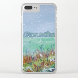 Snowing Clear iPhone Case