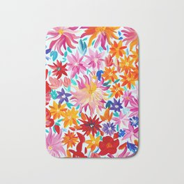 Daliahs and other Flowers Bath Mat