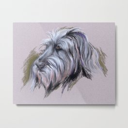 Wolfhound Portrait Metal Print