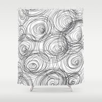cycle Shower Curtains featuring Cycle Pattern by Maioriz Home
