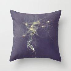 Floating Dandelion Petals Throw Pillow