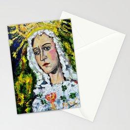 María Santísima de la Esperanza Macarena Crowned Juan Manuel Rocha Kinkin Stationery Cards