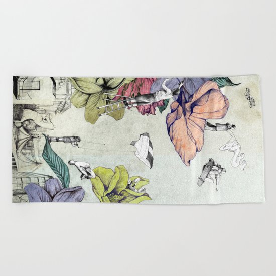 Flower forest Beach Towel
