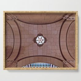 Architectural Abstract of a domed ceiling of moorish influence. Serving Tray