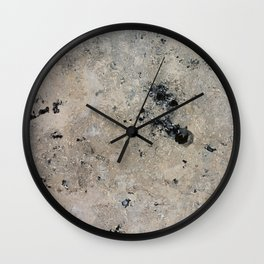 Abstract vintage black gray ivory marble Wall Clock