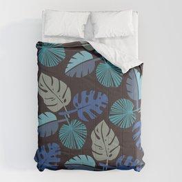Blue Frond Comforters