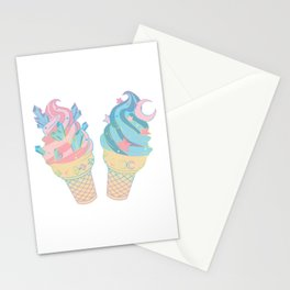 Cosmic Crystal Dairy Free Ice Cream Cones Stationery Cards