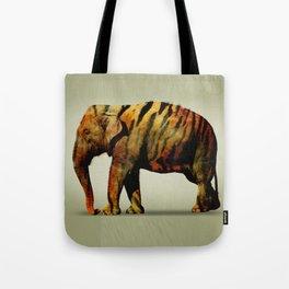 Tiger Elephant Tote Bag