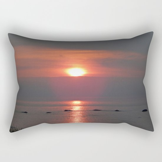 Ste-Anne-Des-Monts Sunset on the Sea Rectangular Pillow